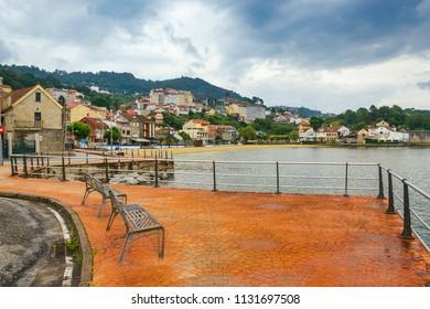 Chapela village seafront in Redondela town, Vigo estuary