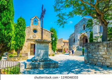 Chapelle des Pénitents Blancs chapel situated at Les Baux des Provence village in France