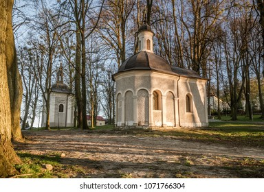 chapels on Mount St. Anne in Poland