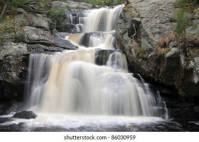 Chapman Falls in Devil's Hopyard State Park in East Haddam, Connecticut