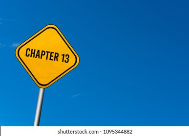 chapter 13 - yellow sign with blue sky
