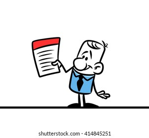 Character man blank document