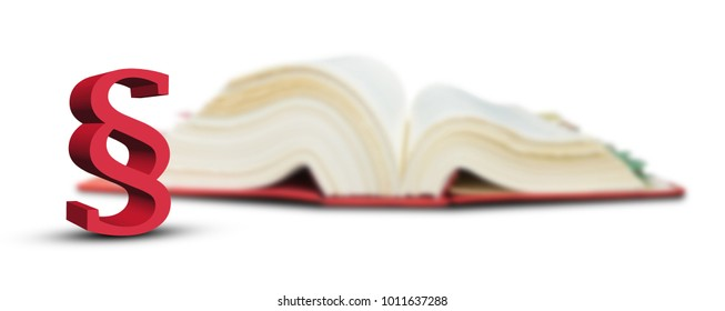 character paragraph on blurred code book background-3d illustration