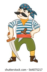 the character of a pirate and a robber