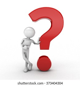 character and question mark white background