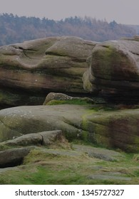 Characterful stones in the peak district national park, millstones abound a great british tourism destination.