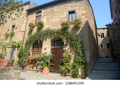 A characteristic corner of an ancient village of Lazio in Italy