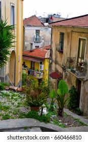 characteristic historic center in Eboli, Italy