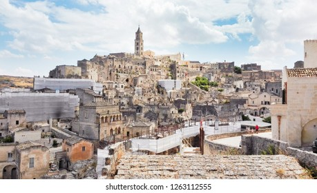 Characteristic houses of Matera also called City of stones the European Capital of Culture 2019