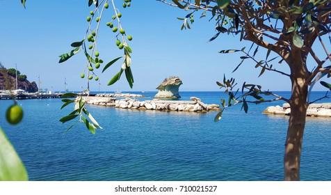 "Characteristic ""mushroom stone"" of Lacco Ameno - Ischia"