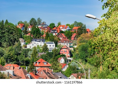 Characteristic residential area of Stuttgart in Germany