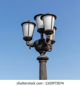 Characteristic streetlight of the city of Bari, city in the south of Italy.