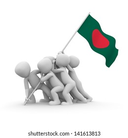 The characters want to hoist the Bangladeshi flag together.