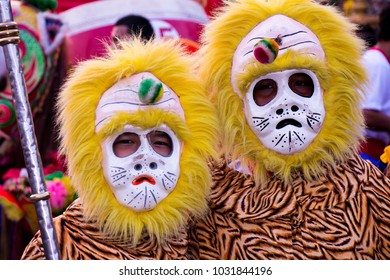 A charactor of canival Hakka Lion Dance in Chinese New Year.