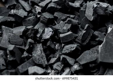 a lot of charcoal