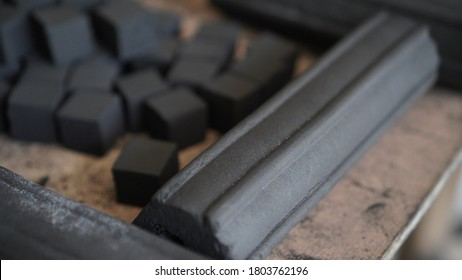 Charcoal briquettes from coconut shells