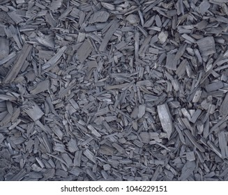 Charcoal produced from wood chips via pyrolysis process