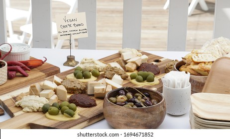 Charcuterie cheese board at a private event