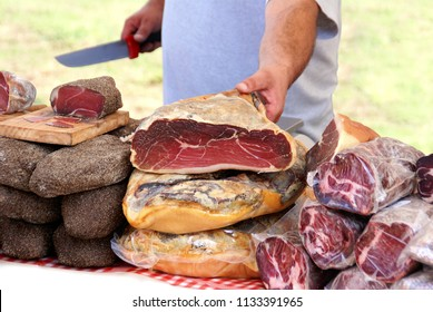 Charcuterie from local production to the market.
