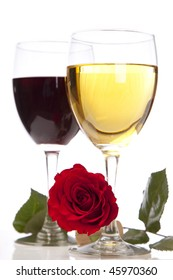 Chardonnay and Merlot with a rose and Cork.