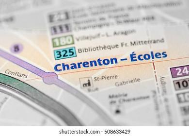 Charenton-Ecoles Station. 8th Line. Paris. France