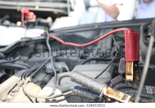 How To Start A Car With A Dead Battery >> Charge Dead Battery Jump Start Car Transportation Objects