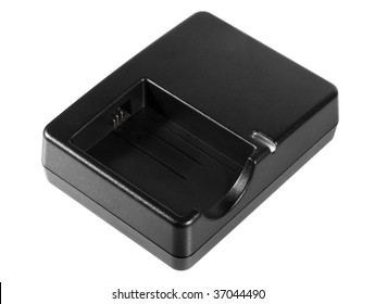 Charger for lithium-ion batteries, isolated on a white background