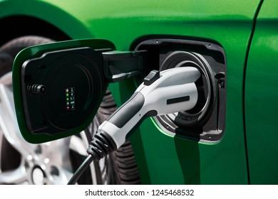 Charging an electric car or plug in hybrid