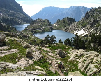 Chariots of fire trail. Pyrenees mountain. Spain