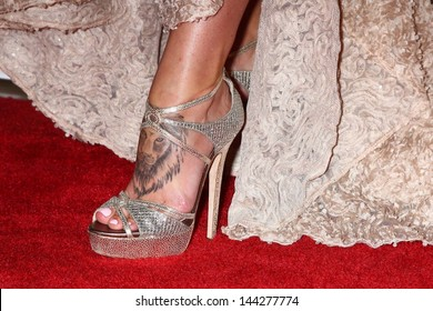 Charisma Carpenter`s tattoo on her foot is seen at the 4th Annual Thirst Gala, Beverly Hilton Hotel, Beverly Hills, CA 06-25-13