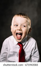 Charismatic boy screams with joy