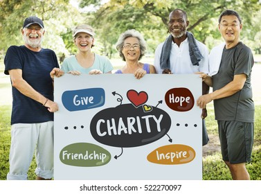 Charity Give Friendship Hope Inspire Aid Donate Concept