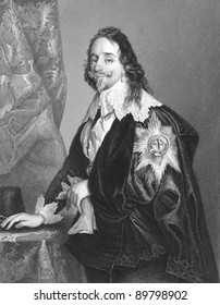 Charles I (1600-1649). Engraved by A.H Payne and published in The National and Domestic History of England, United Kingdom, 1890.