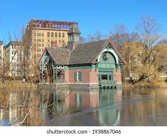 The Charles A. Dana Discovery Center overlooking Harlem Meer in Central Park, New York City - Shutterstock ID 1938867046