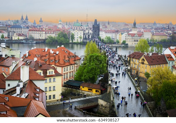 Charles Bridge from Old City view