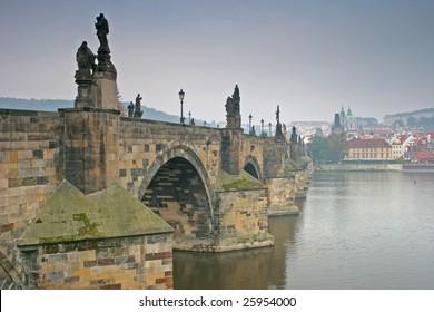 Charles Bridge Prague Czech Republic in Autumn