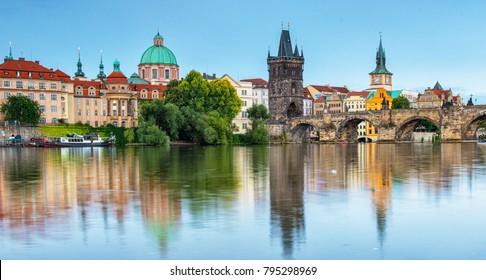 Charles Bridge, Prague in the morning