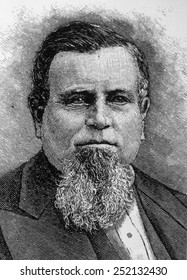 Charles Crocker (1822-1888), owner and operator of the Central Pacific Railroad line