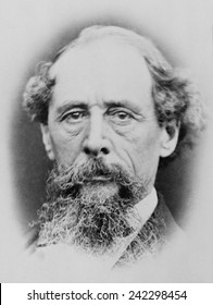 Charles Dicken's (1812-1870), portrait from the 1860s.