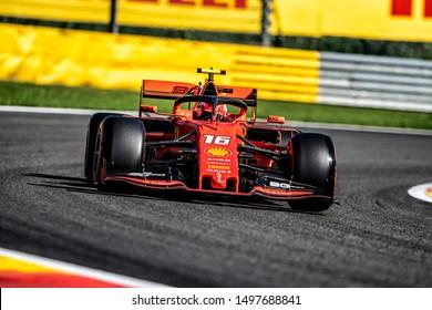 Charles Leclerc (Monaco) in the Scuderia Ferrari Mission Winnow SF90 2019 F1 car during the 2019 Formula 1 Johnnie Walker Belgian Grand Prix (29/08/2019 - 01/01/2019) at Circuit de Spa-Francorchamps