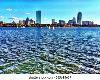 Charles River and Boston, processed