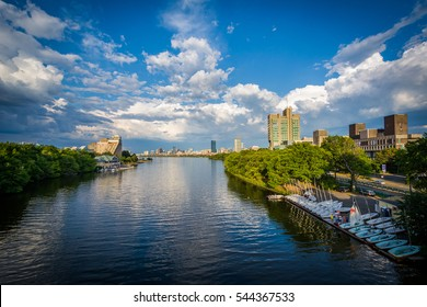 The Charles River at Boston University, in Boston, Massachusetts.