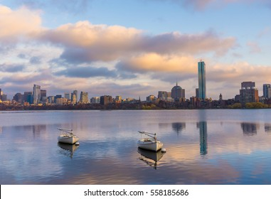 Charles river during sunset