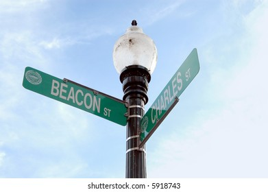 Charles Street and Beacon Street, Boston, Massachusetts