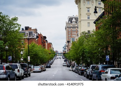 Charles Street in Mount Vernon, Baltimore, Maryland.