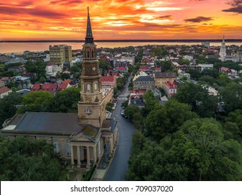 Charleston from the air - church steeple