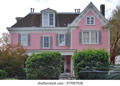 CHARLESTON, SC -31 OCTOBER 2015- Preserved houses in the Charleston Old and Historic District. Founded in 1670, Charleston is the oldest and second largest city in South Carolina.