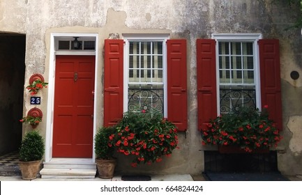Charleston Shutters, Door, Iron and Window Boxes, Charleston SC