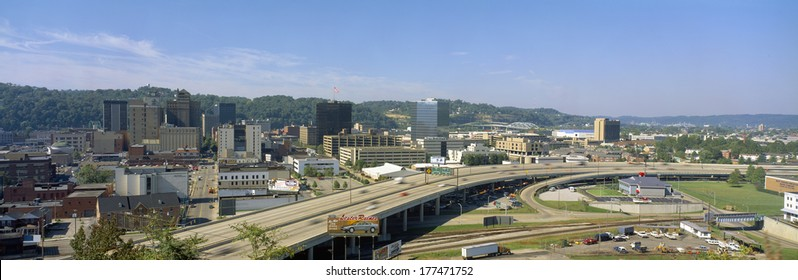 Charleston Skyline, State Capitol, West Virginia