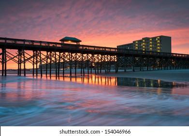 Charleston South Carolina Folly Beach Pier and Waterfront Development